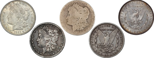 Here are various Morgan Dollars of varying condition and value. Some look like they're not worth much, but are. Some look like they could be worth a lot, but aren't. Which are which?