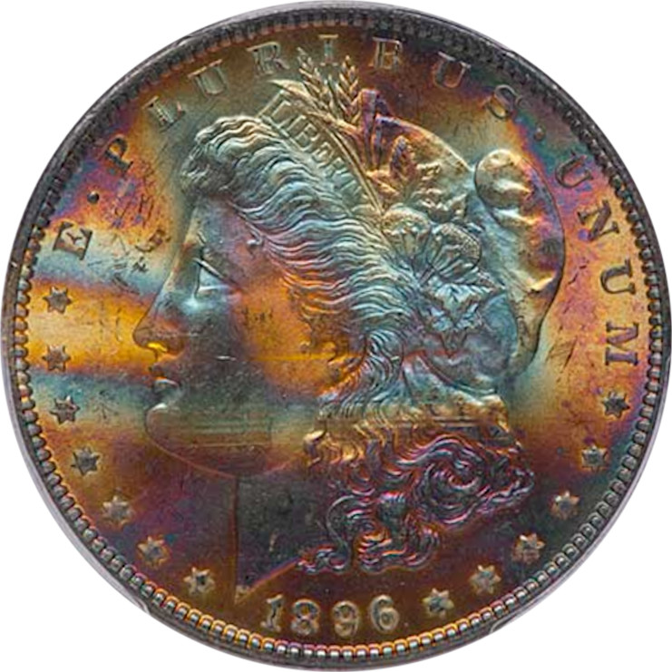 1896 Morgan Silver Dollar PCGS MS65 CAC Obverse, Photo by Patrick Braswell