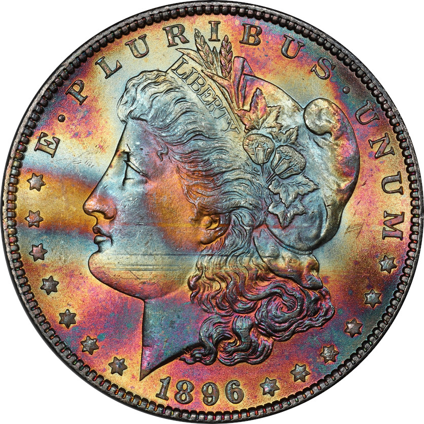 1896 Morgan Silver Dollar PCGS MS65 Obverse, Photo by Phil Arnold