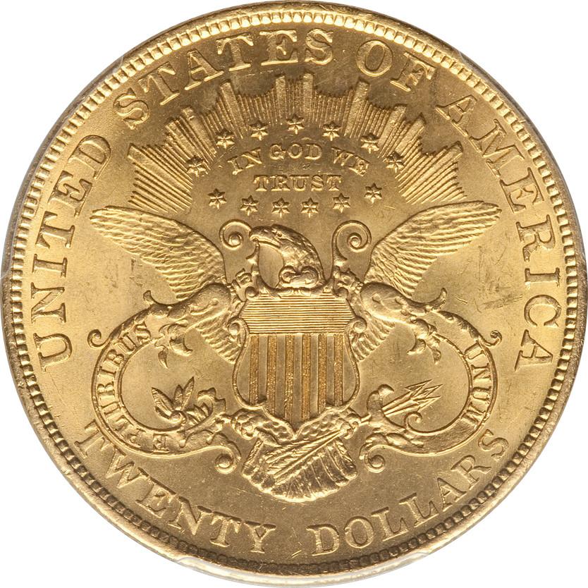 1904 $20 Gold Liberty Head Double Eagle, Reverse