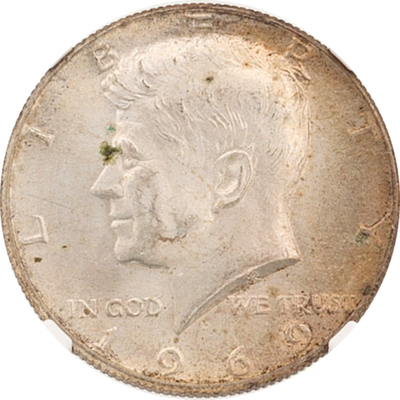 From the Armstrong Family Collection Sale - 1969-D Kennedy Half Dollar, Obverse