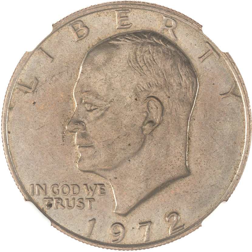 From the Armstrong Family Collection Sale - 1972 Eisenhower Dollar, Type 3, Obverse