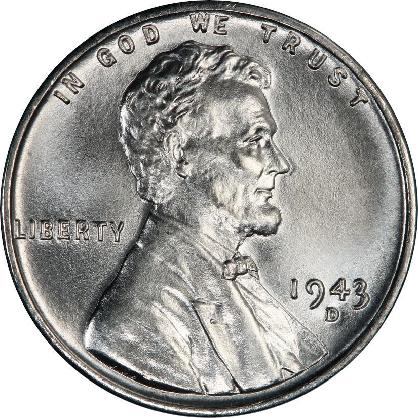 1943-D Lincoln Wheat Cent Obverse