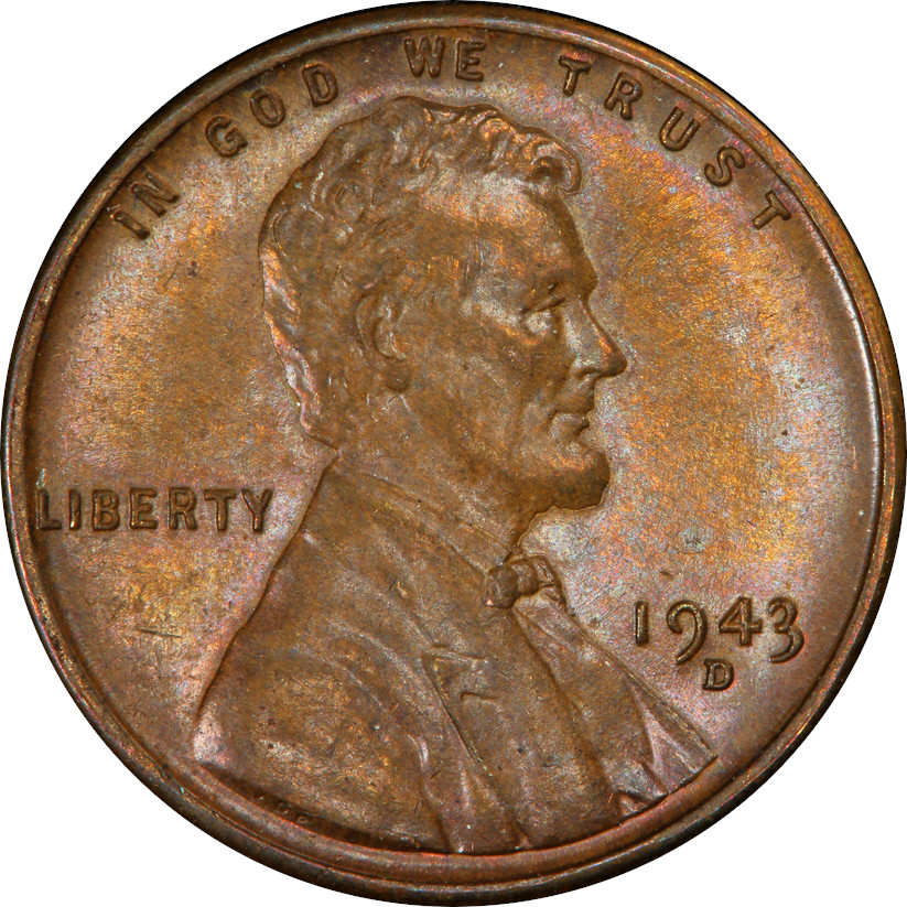 The Finest-known Bronze 1943-D Lincoln Wheat Cent, Obverse