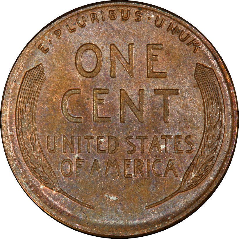 The Finest-known Bronze 1943-D Lincoln Wheat Cent, Reverse