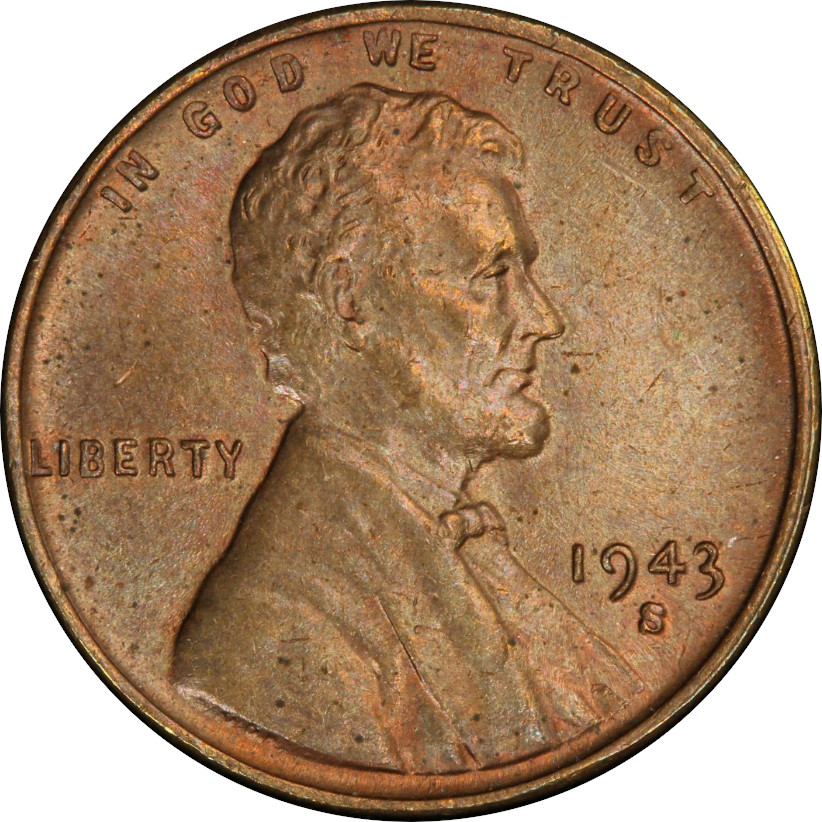 Bronze 1943-S Lincoln Wheat Cent Obverse
