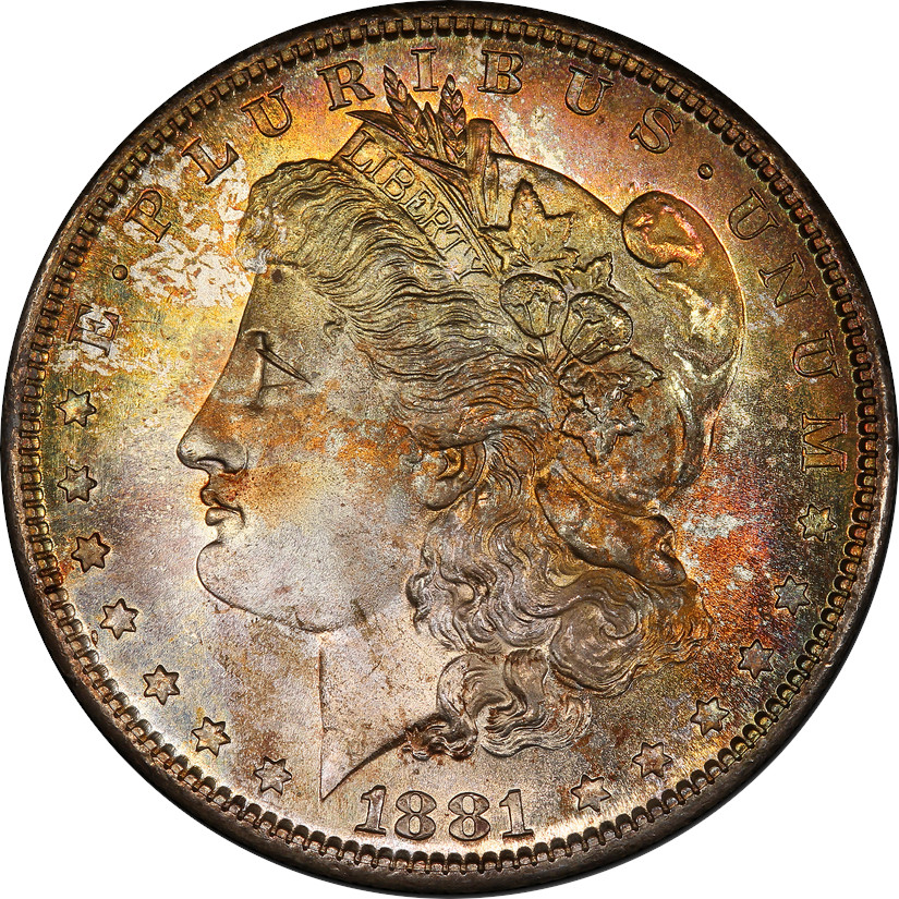 For us, this coin is absolutely beautiful. The toning, eh, not so much. It's not ugly, but it's not super appealing to most of us here. The colors are lovely, but splotchy and uneven. We rate it a 2/10 for this article.