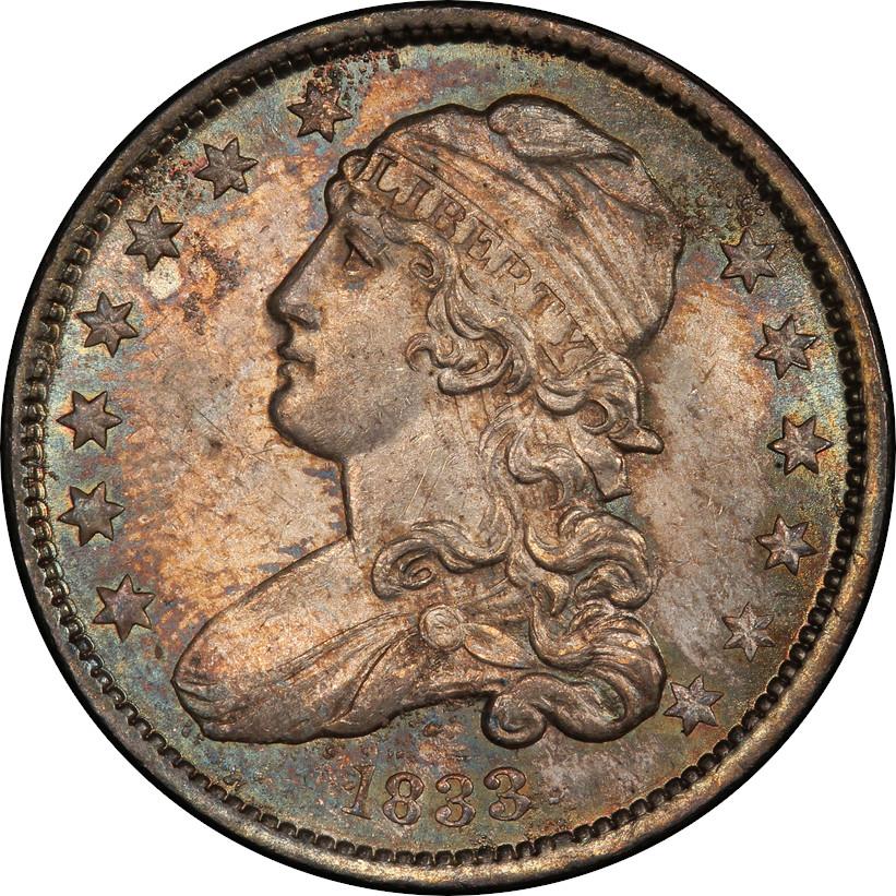 1833 Capped Bust Quarter, Obverse
