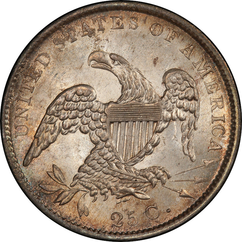 1833 Capped Bust Quarter, Reverse