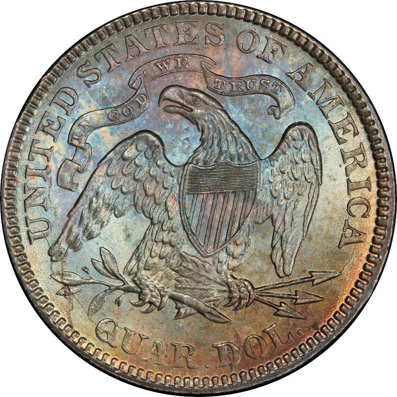 1876 Liberty Seated Quarter, Reverse