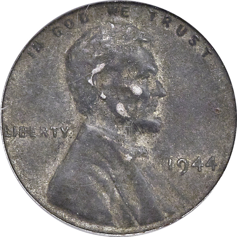 Steel 1944 Lincoln Penny AU, Obverse
