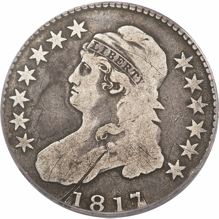 1817/4 Capped Bust Half Dollar (R.7, Red Book), Overton-102, Obverse
