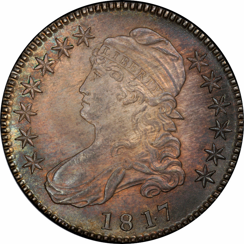 1817 Capped Bust Half Dollar, Overton-103 (R.2, Red Book), Punctuated Date, Obverse