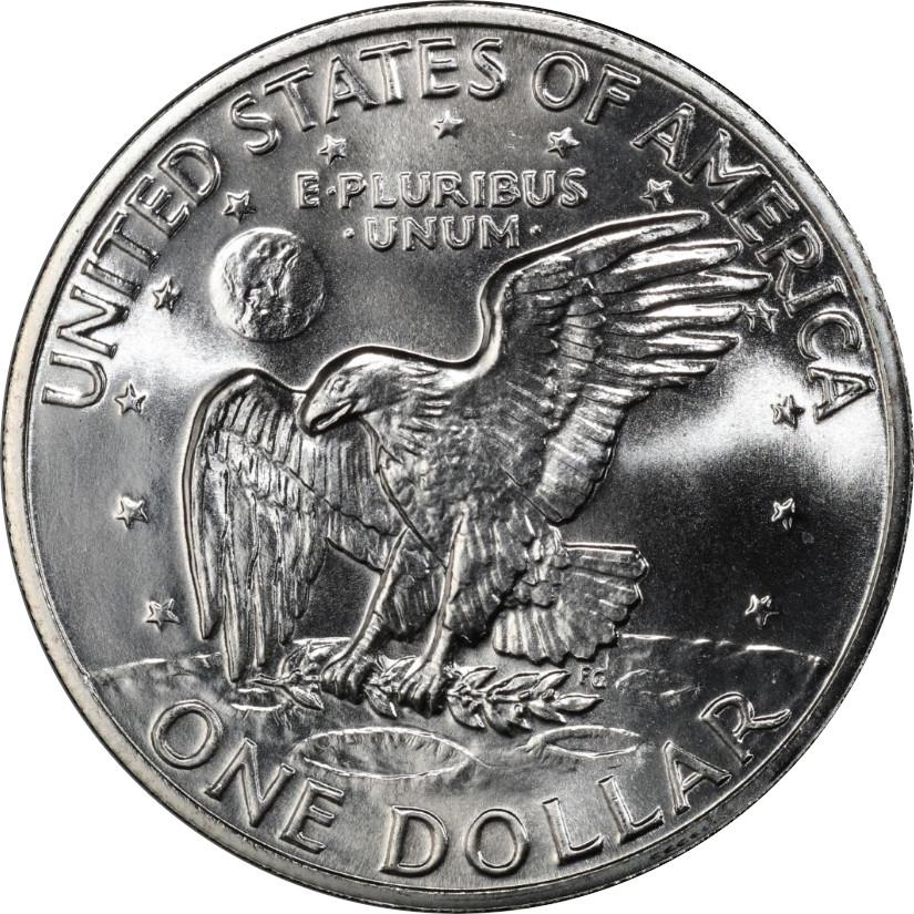 1972-S Eisenhower Silver Dollar, Reverse