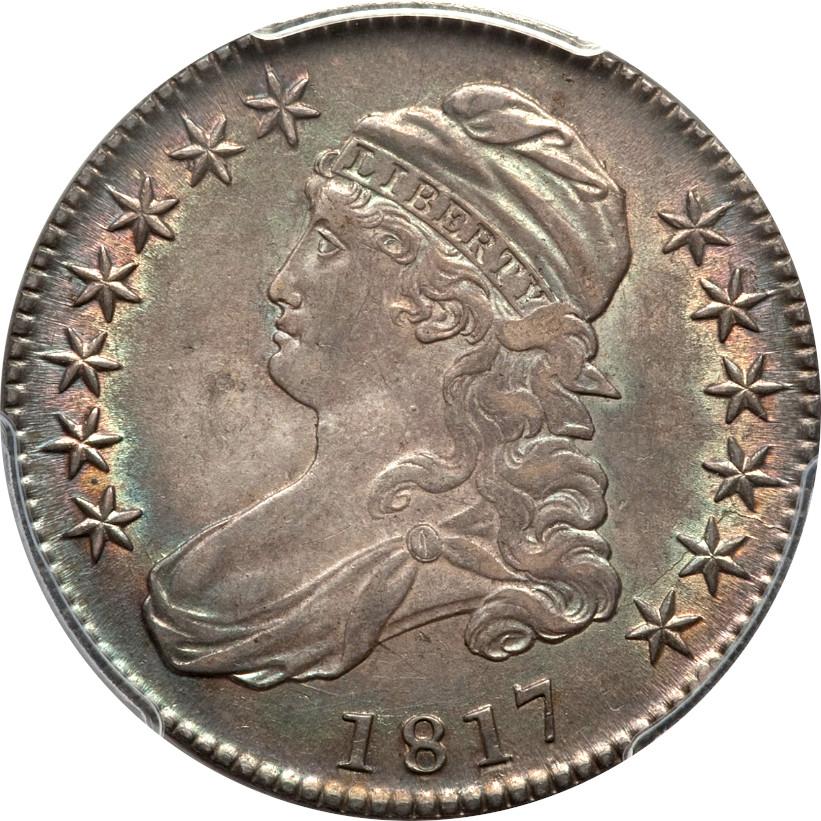 1817 O-110 Capped Bust Half Dollar, Obverse