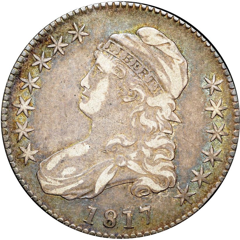 1817 O-111 Capped Bust Half Dollar, Obverse