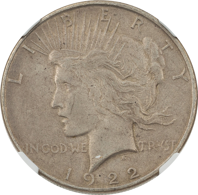 A 1922-D Peace Dollar certified by NGC as AU-58. If that's AU-58, I know a whole lotta coins need to be resubmitted asap.