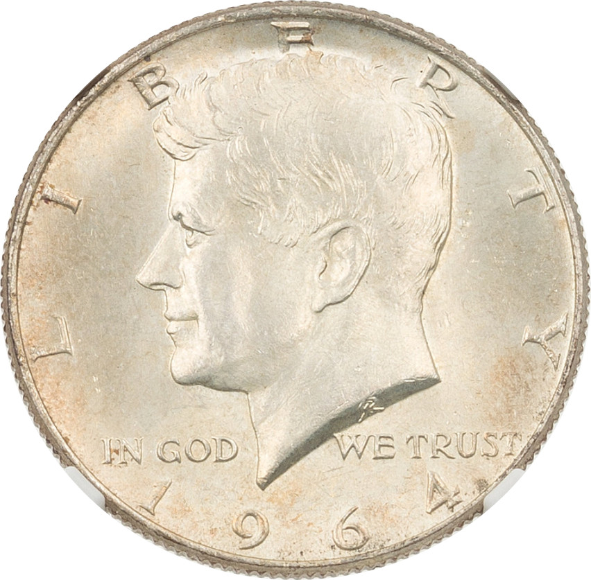 This 1964 Kennefy Half Dollar was the star of the sale. NGC certified it at MS-65, which actually seems about right. It sold for $1,875.